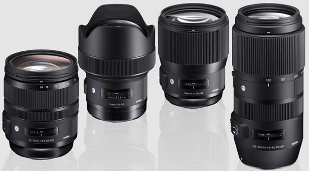 sigma 14 135 1.8 24-70 150-600 lenses