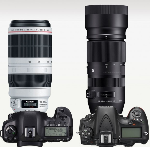 Size comparison: EF 100-400mm Vs. Sigma 100-400mm