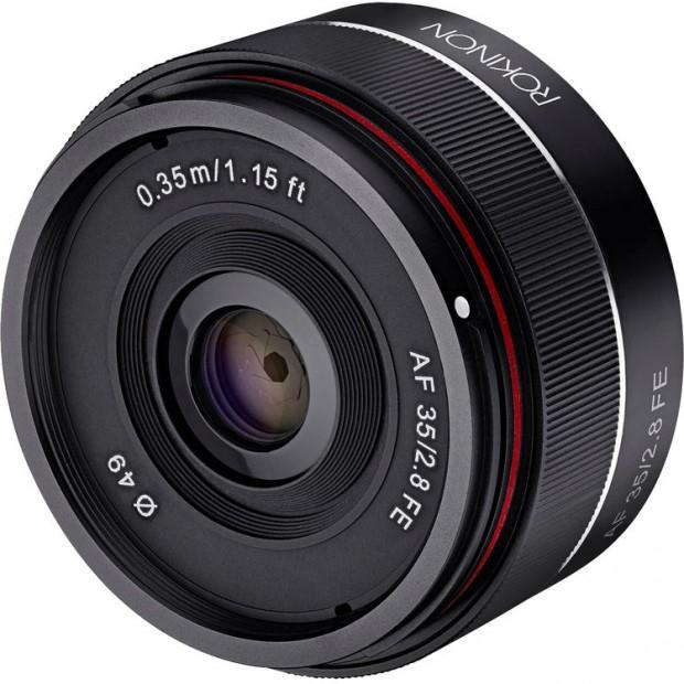 rokinon af 35mm f 2.8 fe lens