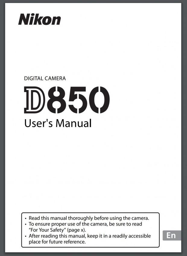 d850 users manual