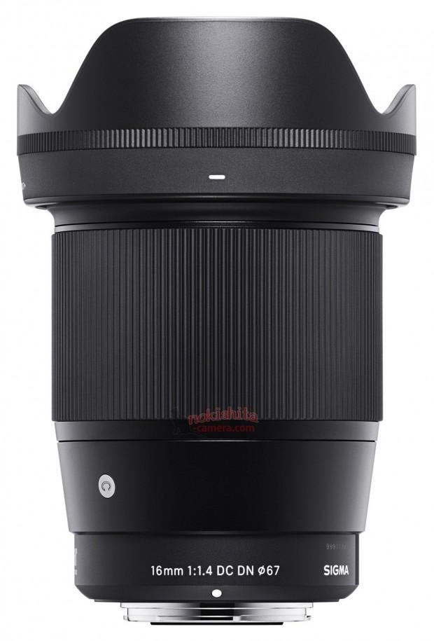 sigma 16mm f 1.4 dc dn e lens