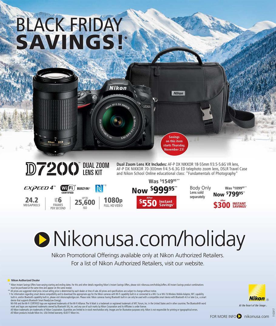 2018 Nikon D7200 Black Friday & Cyber Monday Deals | Camera