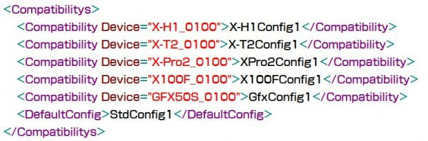 Fujifilm X-H1 Rumored Specs