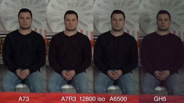 a7 iii vs a7r iii vs a6500 vs gh5 iso 12800