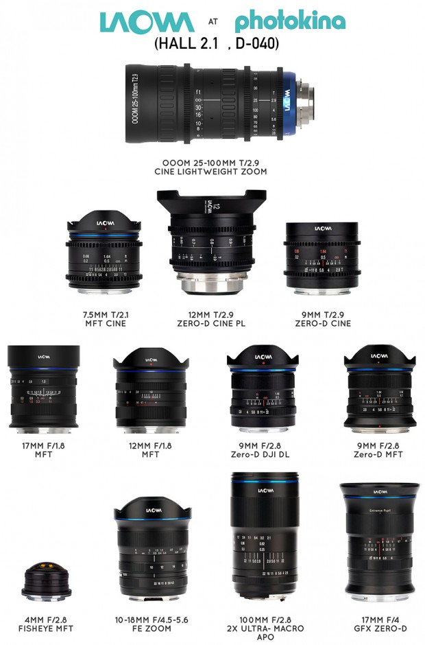 Venus Optics Announces 8 New Laowa Lenses at Photokina 2018