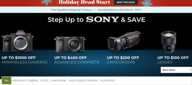 6c40a3435bf Sony Black Friday Deals Live: $1,000 Off on a9, $400 Off on a7R III, a7RII  $1,598, a7II $898, a6500 $1,098, a6300 $748, a6000 $398 and More !