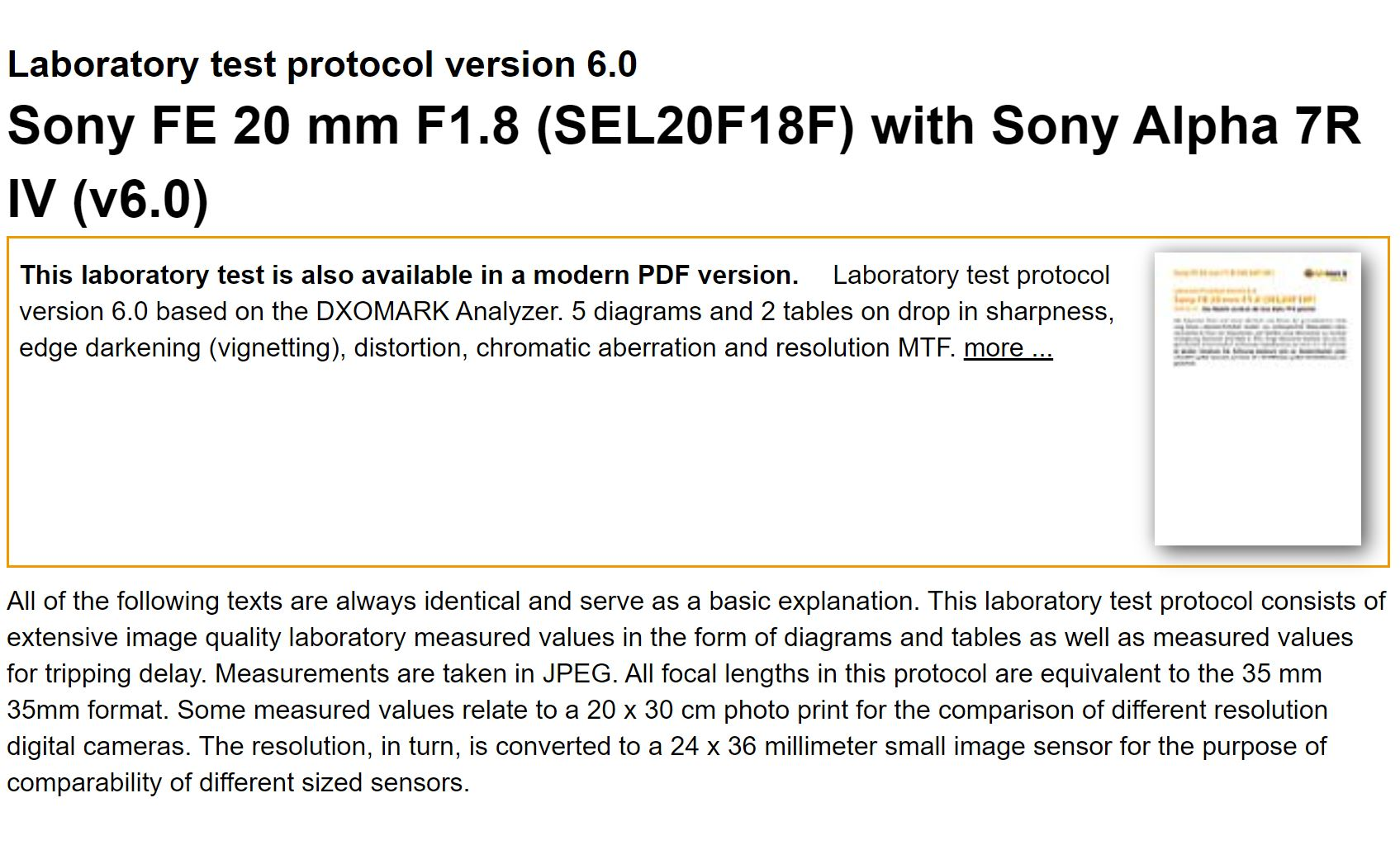 Confirmed ! Sony FE 20mm f/1.8 G Lens to be Announced Soon !