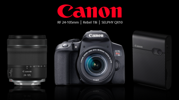 Canon Announced EOS Rebel T8i, RF 24-105mm f/4-7.1 IS STM Lens, SELPHY Square QX10 Photo Printer