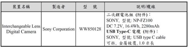 """Sony """"WW850128"""" Camera Registered. Sony a5?"""