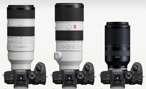 Sony FE 70-200mm F2.8 GM OSS II Lens Size Comparisons